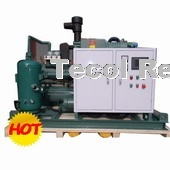 Water cooled multi compressor system for refrigeration cold storage room